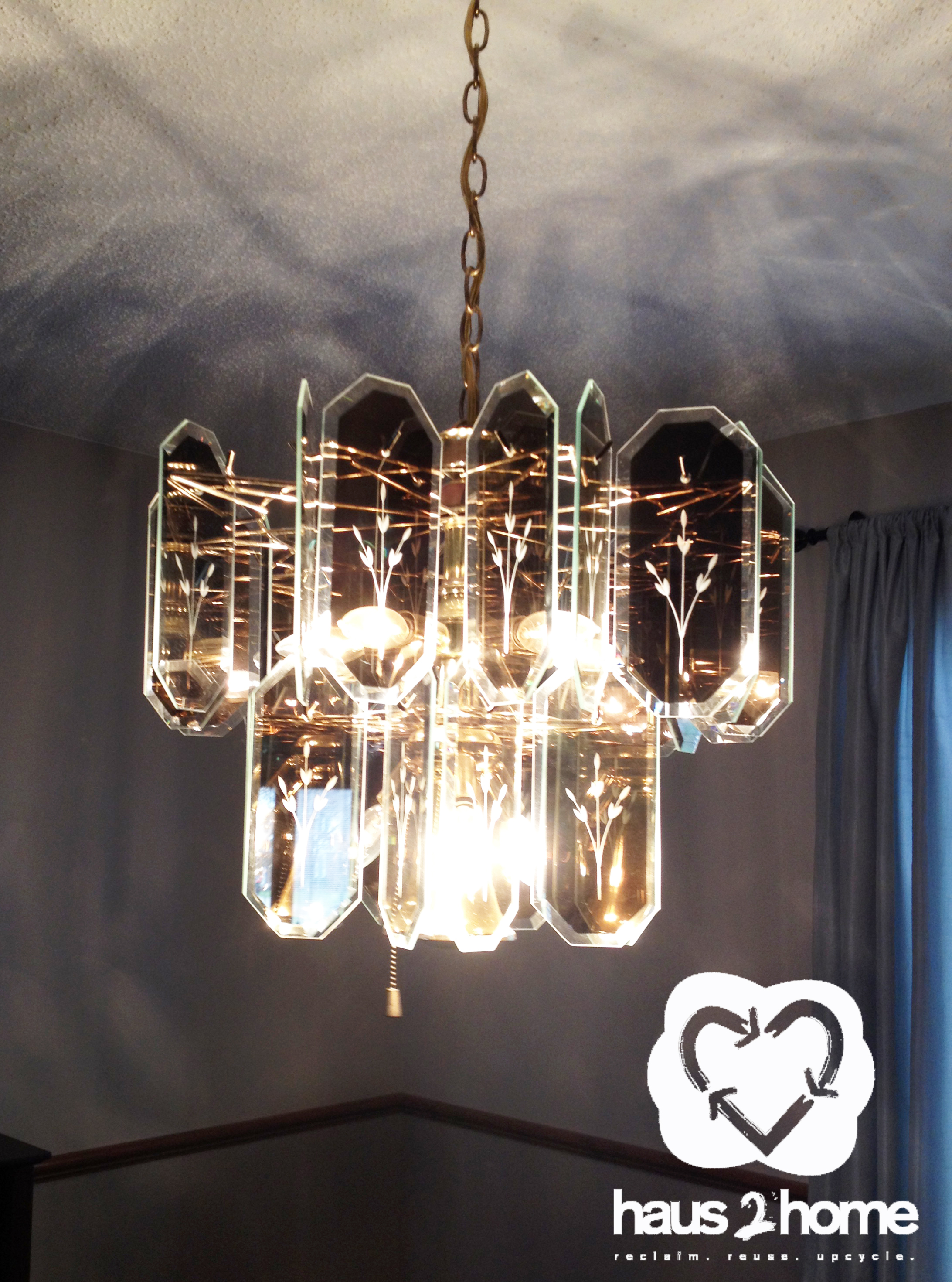 Upcycled Chandelier Haus2home