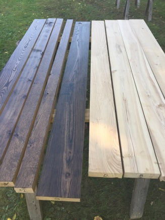 Custom Dining Room Table in the Making: Prepping and Staining