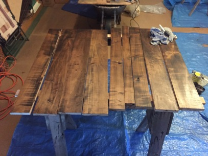 Custom Dining Room Table in the Making: Assembly and staining