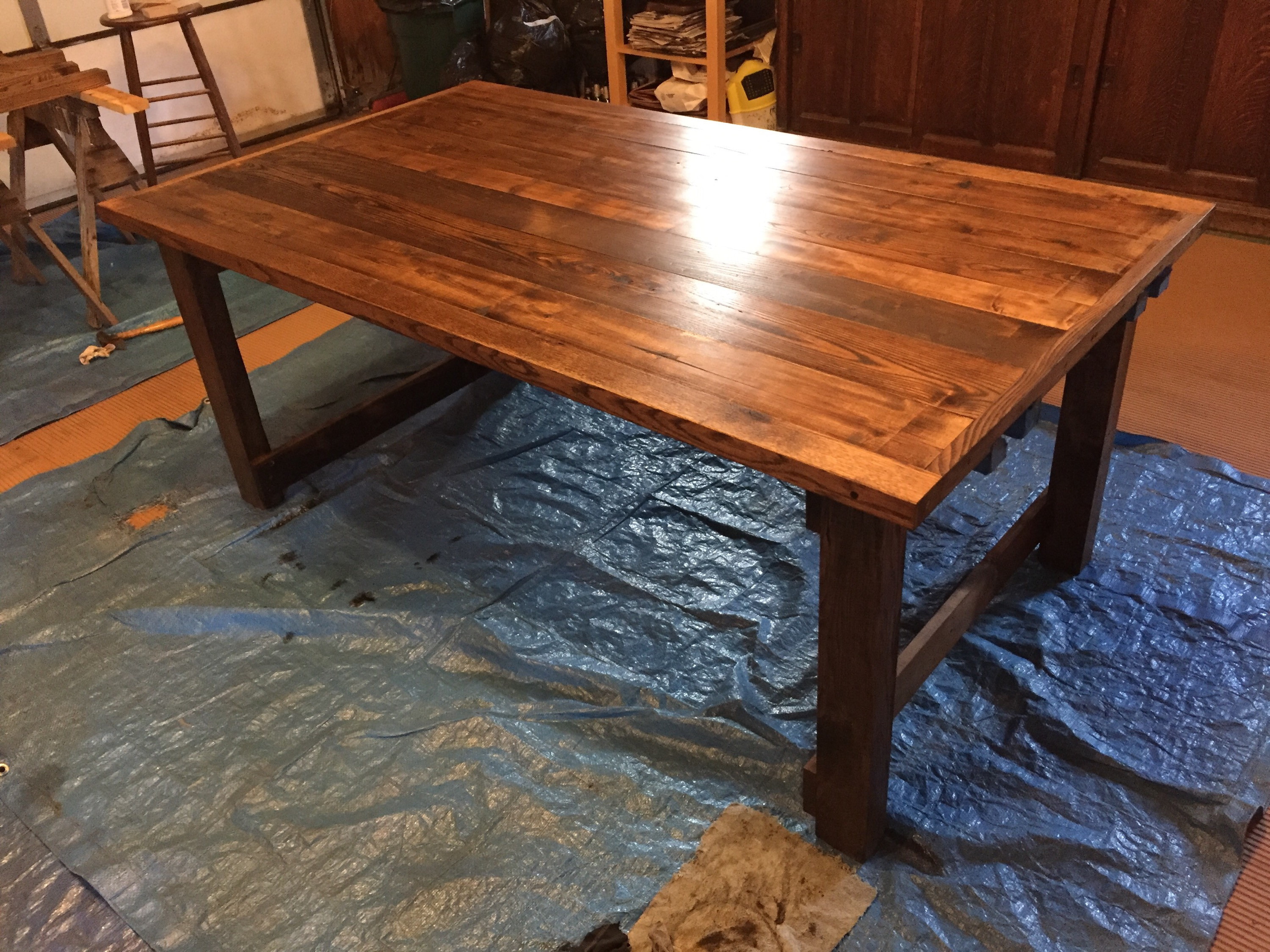 custom dining room tables   Custom Dining Room Table in the Making: Assembly and ...