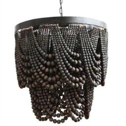 Wood-bead-chandelier